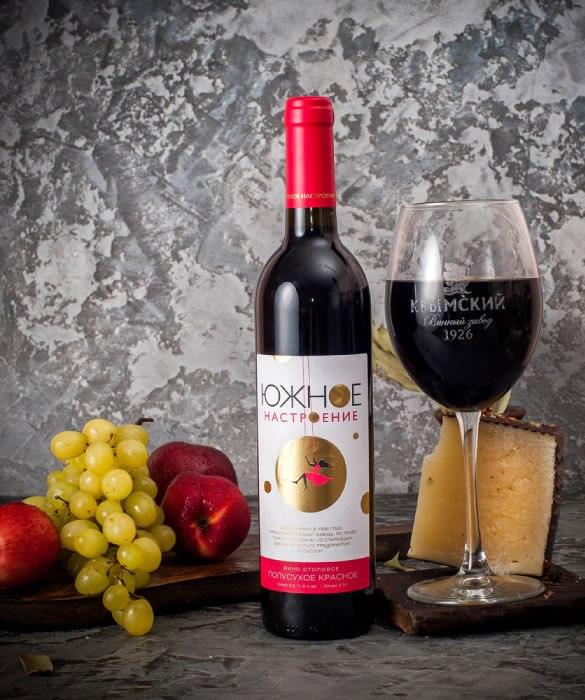 Вино полусухое красное из серии «Южное Настроение»