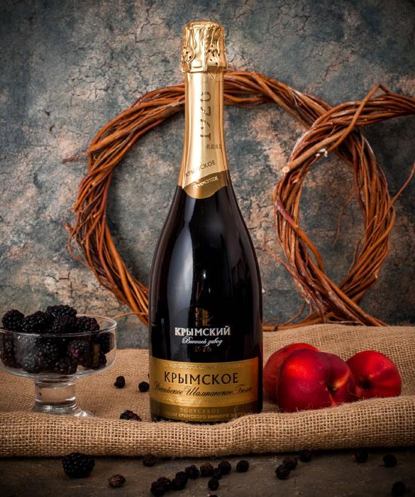 Шампанское «Крымское» Полусухое