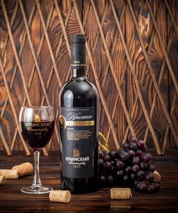 Вино полусладкое «Крымское Эксклюзивное» Мерло
