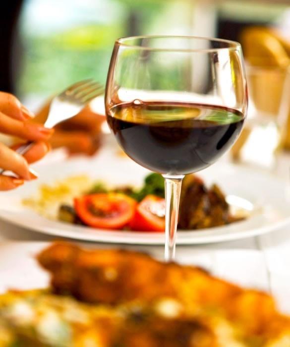 Вино для полноценного приёма пищи