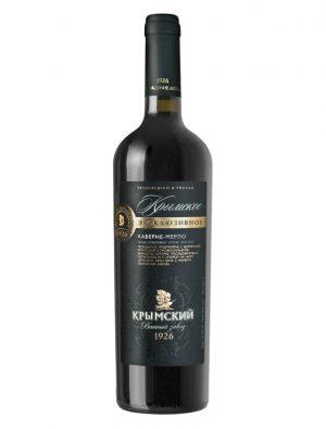 «Крымское Эксклюзивное» вино Каберне-Мерло Сухое