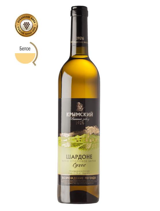 Вино Шардоне Белое, Сухое