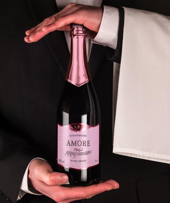 Винный газированный напиток «Аморе Аппассионато» со вкусом клубники