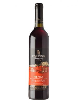 Красное вино - Мерло Полусладкое